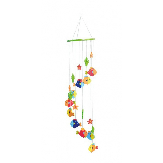 Baby decoratie mobiel met vissen 65 cm