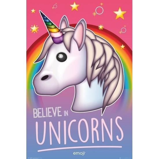 Believe in uncorns emoji posters 61 x 92 cm