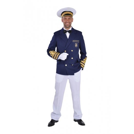 Blauwe kapiteins jasje heren