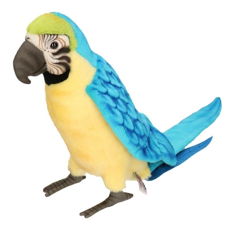 Blauwe papegaai knuffel 72 cm