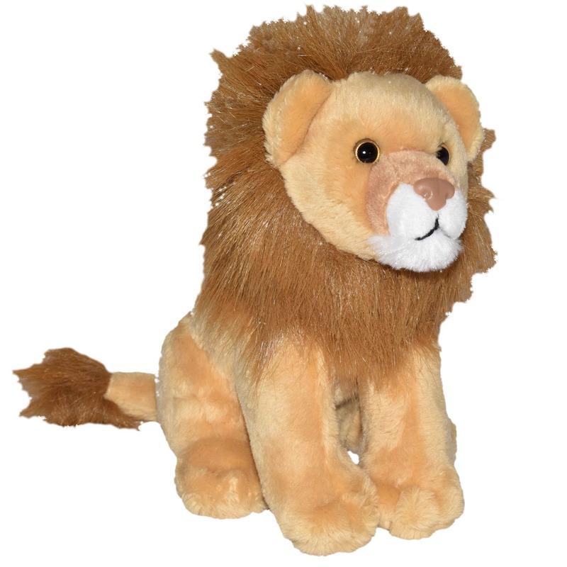 Bruine leeuwen knuffels met geluid 20 cm knuffeldieren