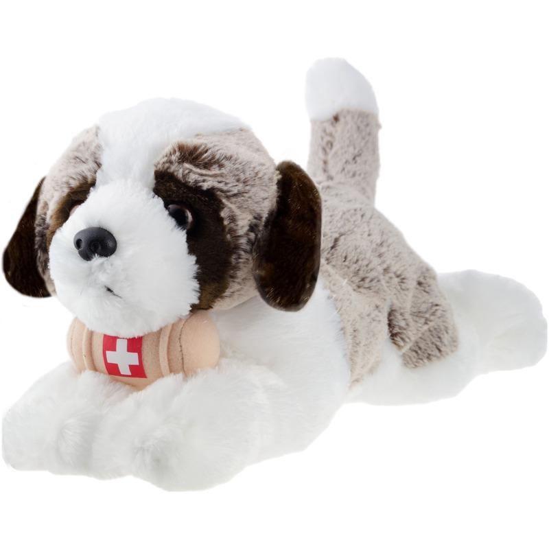 Bruine Sint Bernard honden knuffels 32 cm knuffeldieren