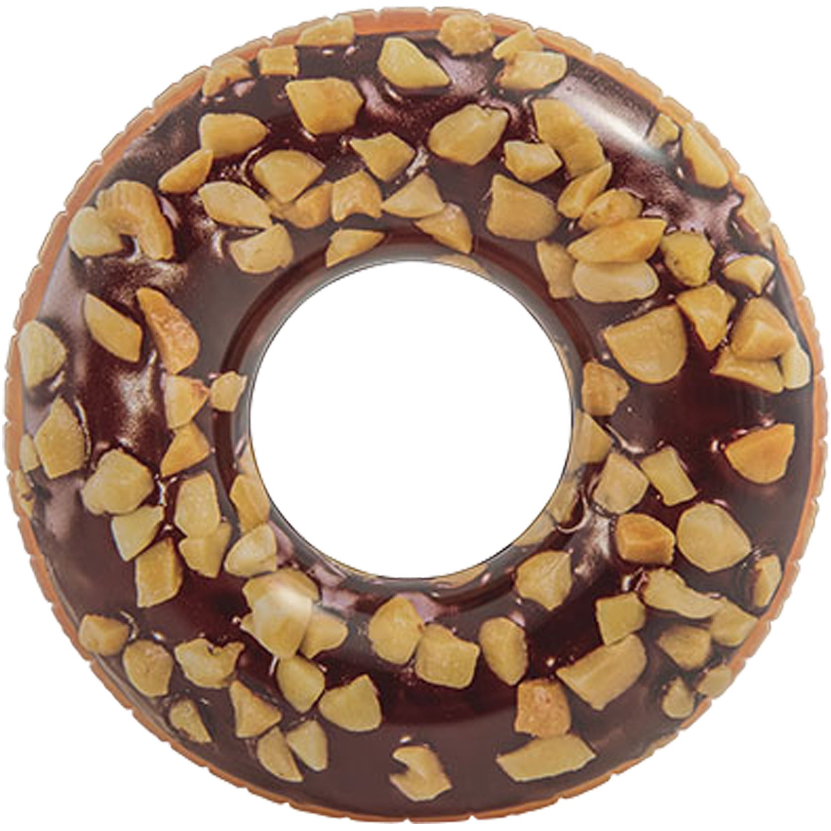 Chocolade donut opblaasbare zwemband 114 cm