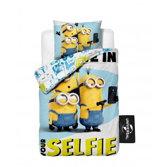 Dekbedovertrek Minions selfie voor kids