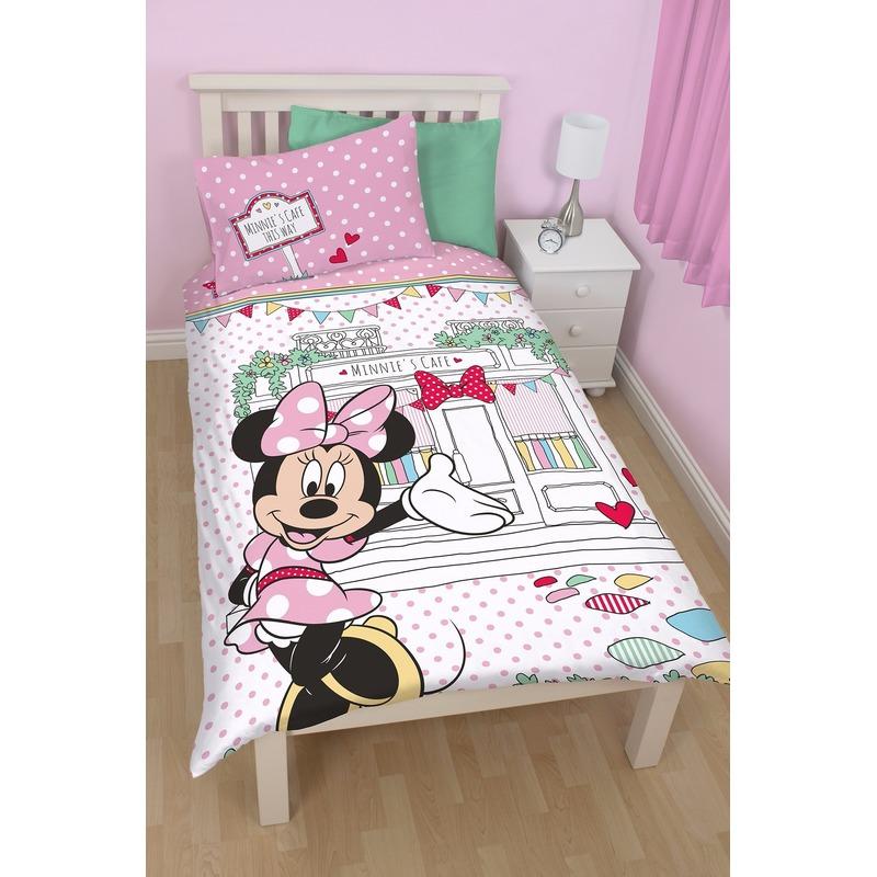 Dekbedovertrek Minnie Mouse cafe