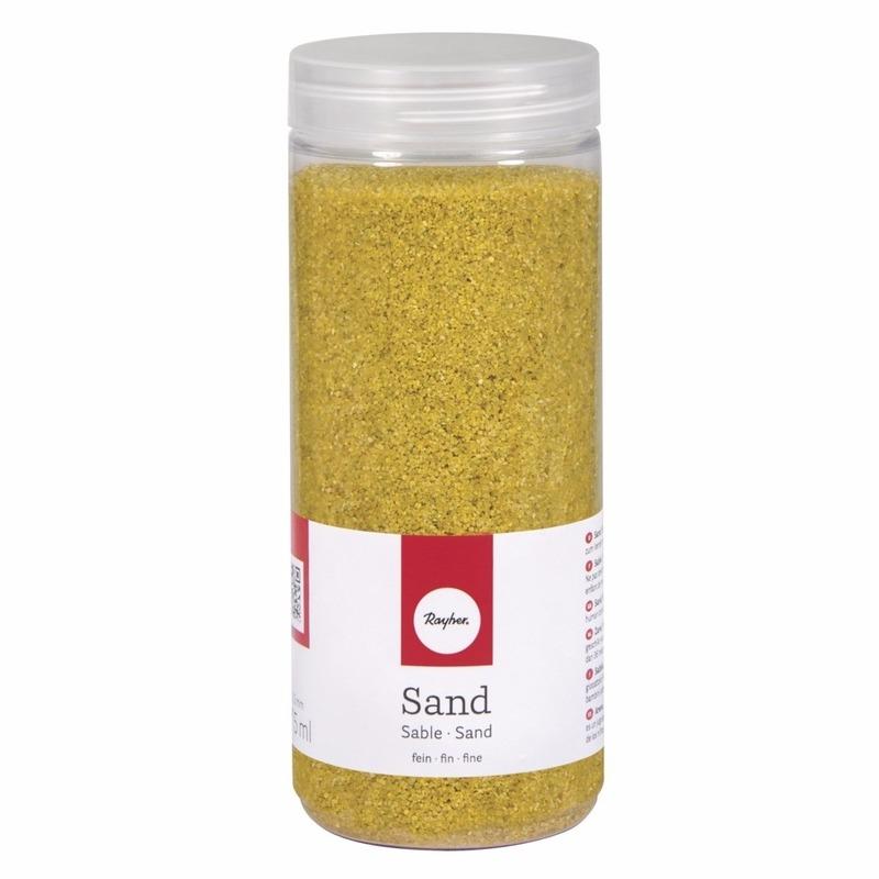 Fijne zandkorreltjes geel