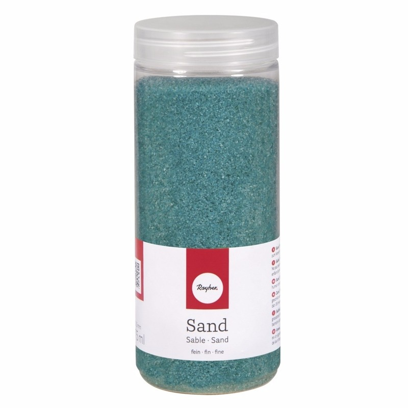 Fijne zandkorreltjes turquoise