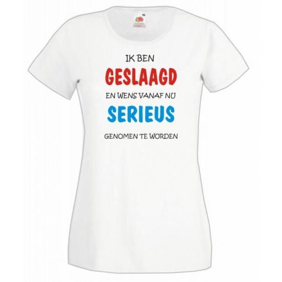 36c0a9b3eba Dames t-shirt wit met geslaagd print | Sinterklaas versiering ...