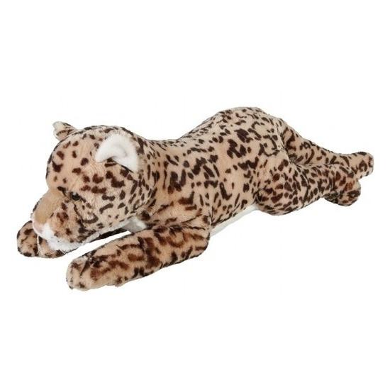 Gevlekte luipaarden knuffels liggend 60 cm knuffeldieren