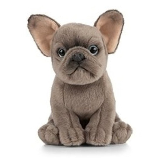 Grijze honden knuffels 15 cm knuffeldieren