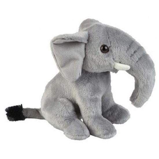 Grijze olifanten knuffels 18 cm knuffeldieren
