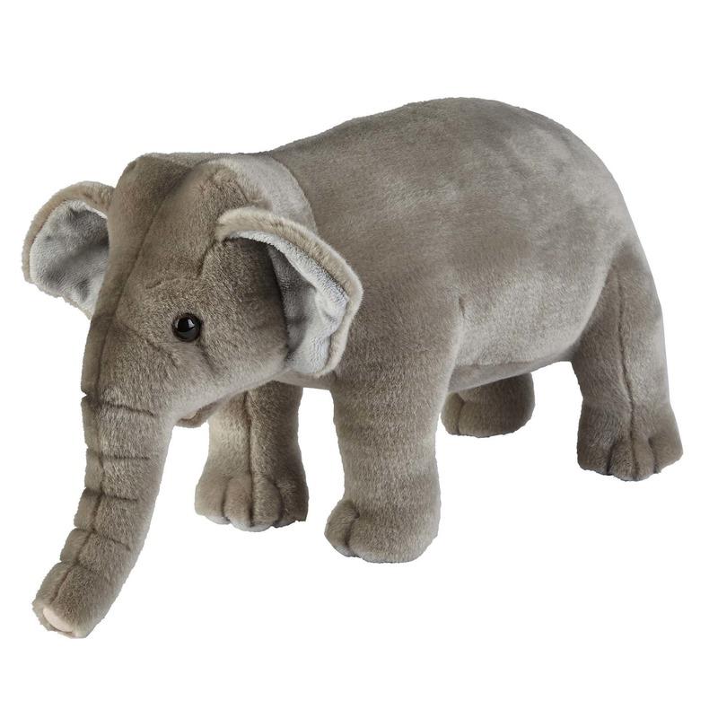 Grijze olifanten knuffels 28 cm knuffeldieren