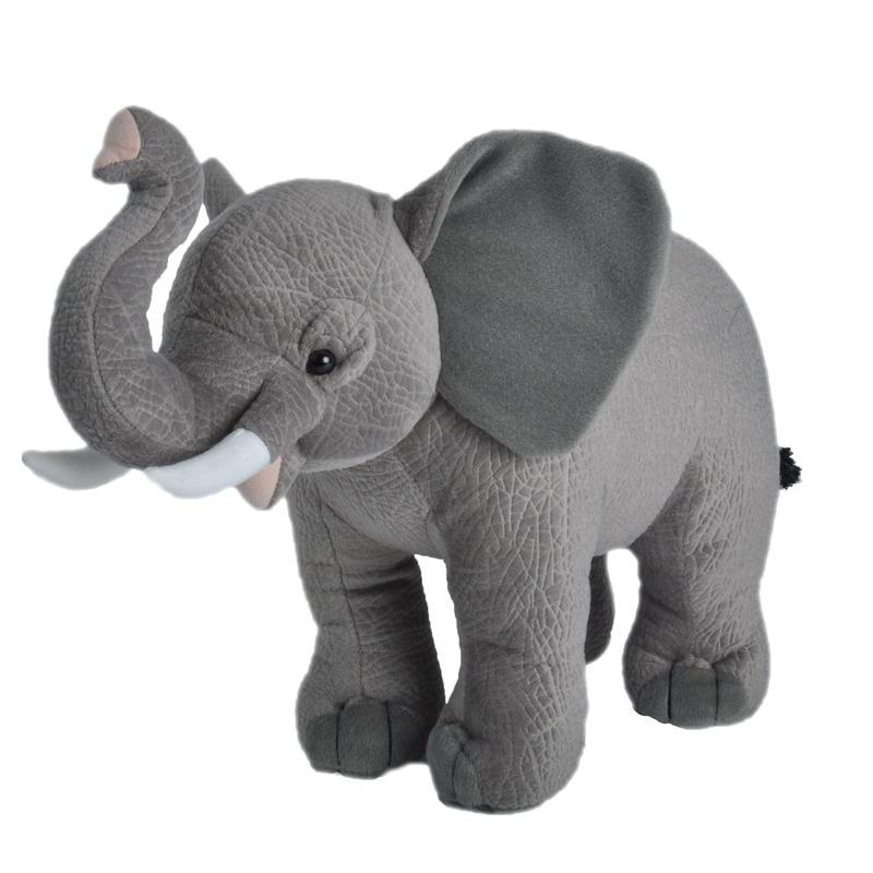 Grijze olifanten knuffels 35 cm knuffeldieren
