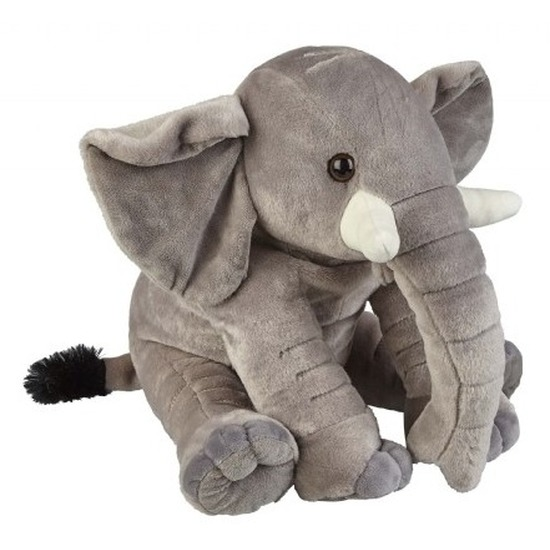 Grijze olifanten knuffels 38 cm knuffeldieren