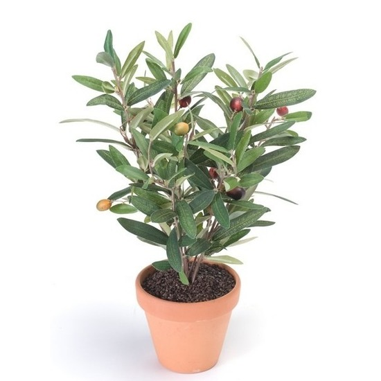 Groen kunstplant olijf boompje plant in pot