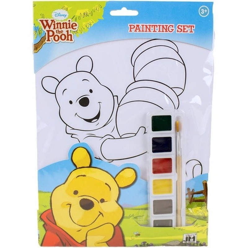 Hobby Verfsetje Winnie De Poeh A4 Kleurplaten