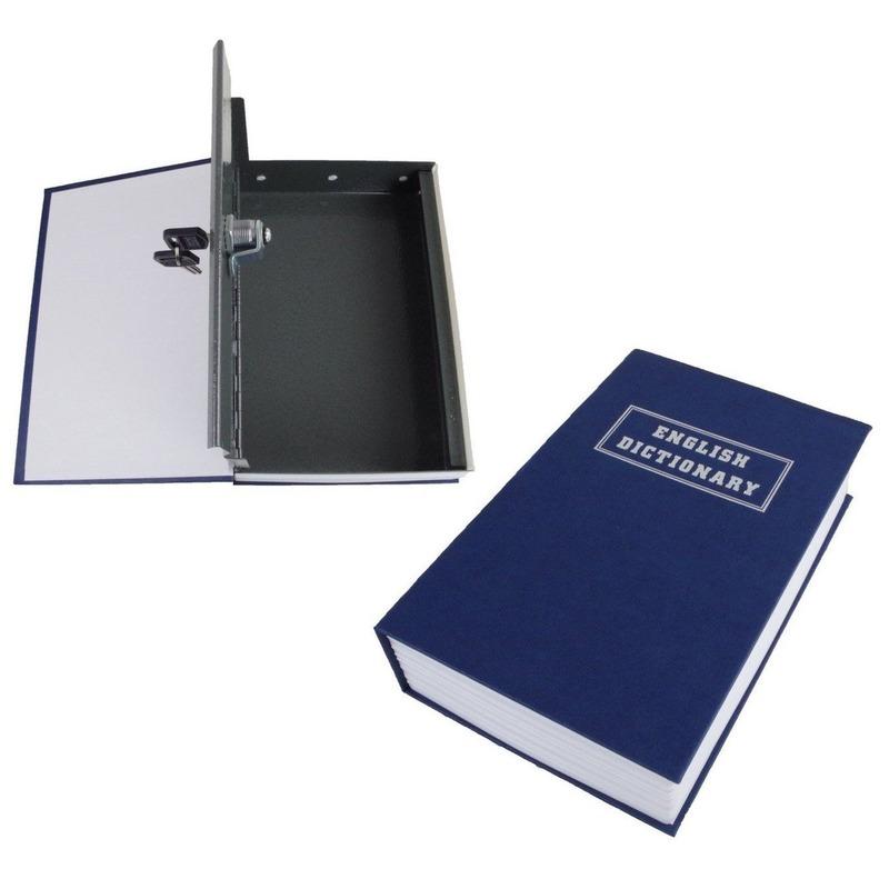Kluisje-verstopplek voor waardevolle spullen in boek