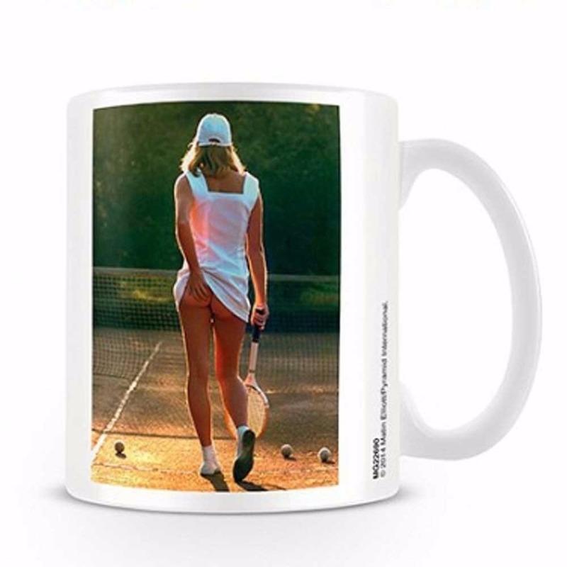 Koffiemok sexy tennis meisje