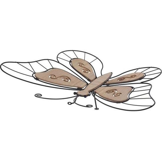 Metalen tuin vlinder 44 cm