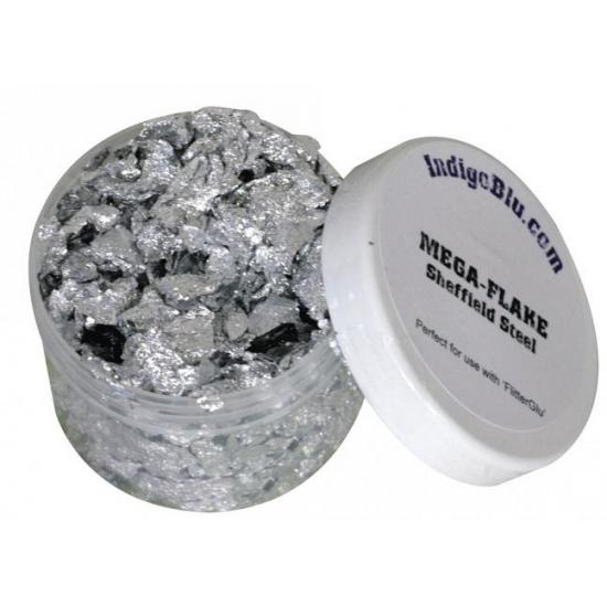 Metalen zilveren steentjes