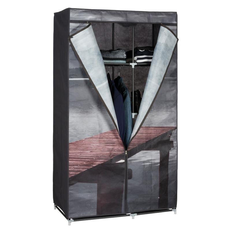 Mobiele kledingkast/garderobekast lake met rits 160 cm
