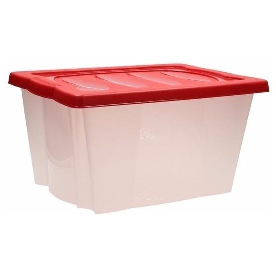 Opbergbox rood voor kerstversiering