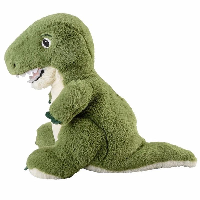Opwarmbare knuffel dinosaurus