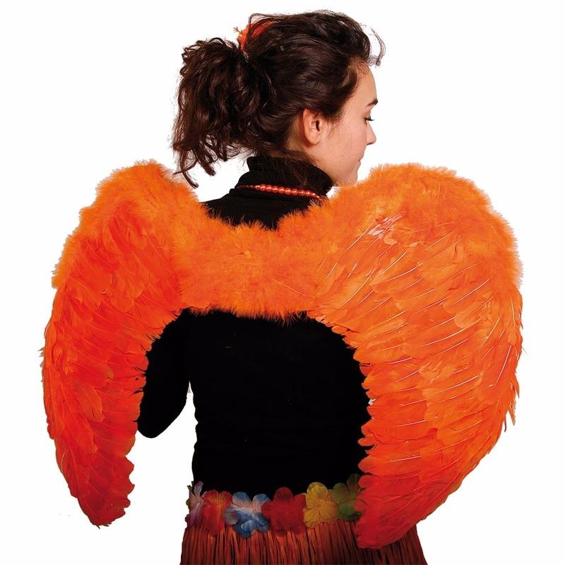 Oranje Engelen Vleugels 80 X 56 Cm