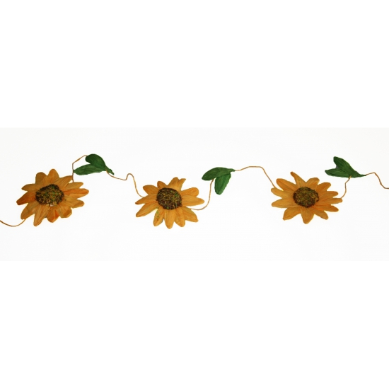 Oranje zonnebloemen slinger