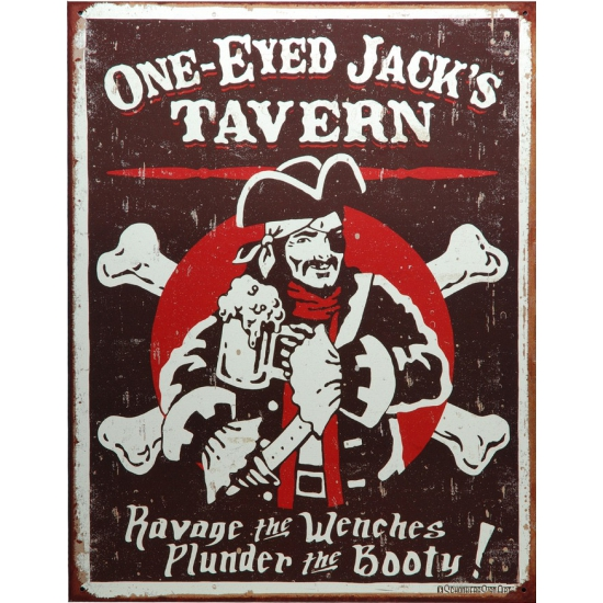 Piraten muurdecoratie metaal Jacks Tavern