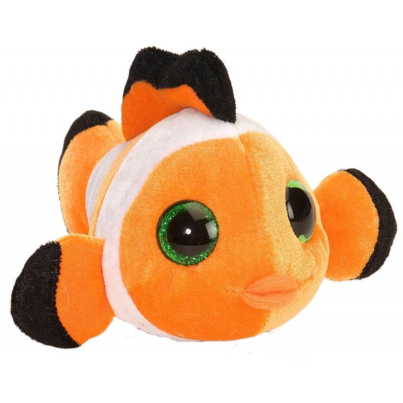 Pluche Knuffel Knuffeldier Clownsvisje Oranje 13 Cm