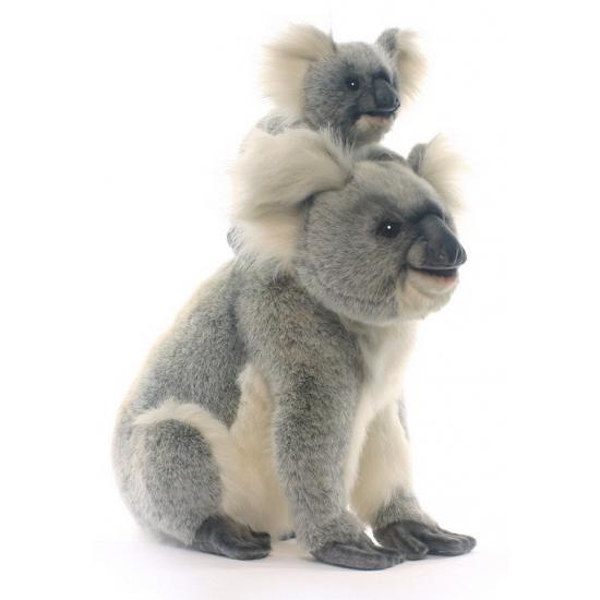 Pluche koala mama met baby 60 cm