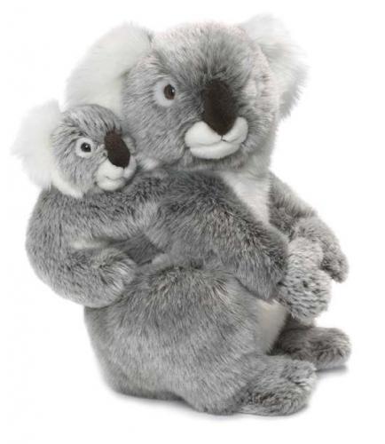 Pluche koala met baby 28 cm
