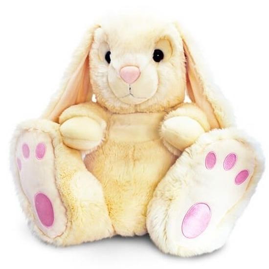 Pluche konijnen knuffel beige 25 cm