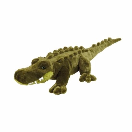 Pluche Liggende Alligator Knuffeldier 60 Cm