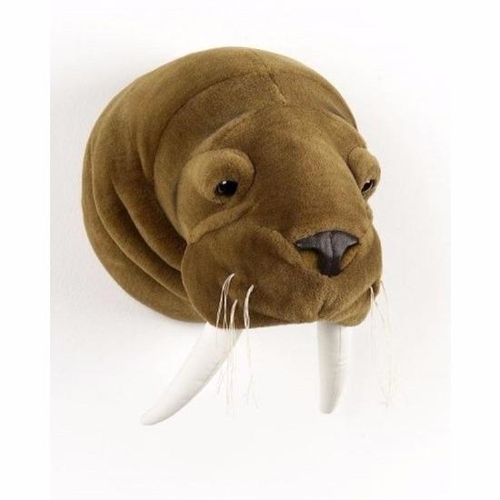 Pluche walrus koppen