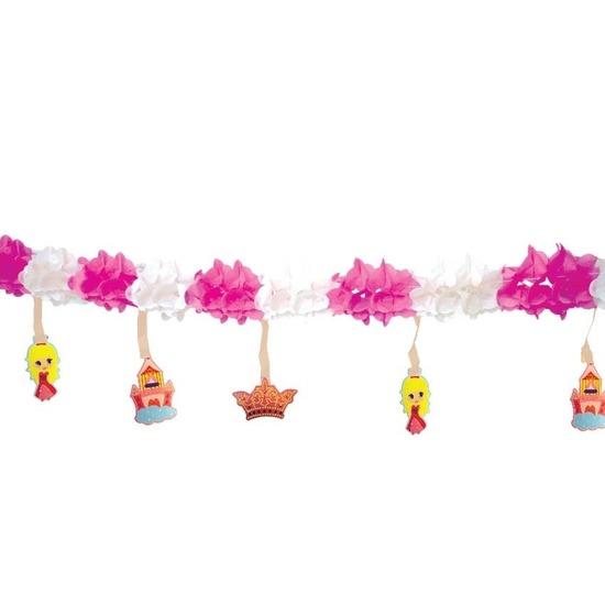 Prinses slinger roze/wit 300 cm