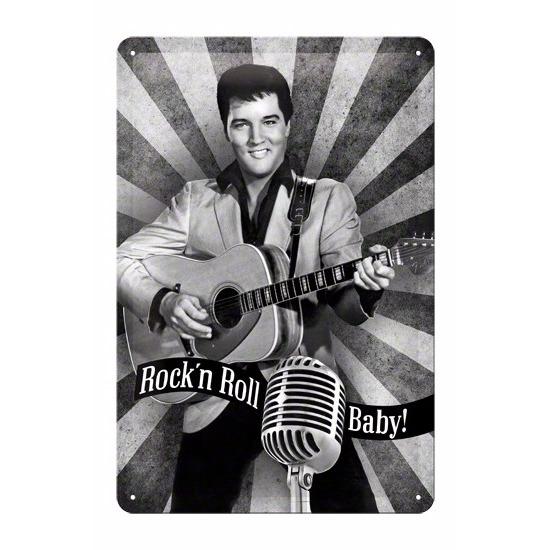 Geen Rock n Roll Baby Muurdecoratie Rock n Roll Baby 20 x 30 cm Feestartikelen diversen