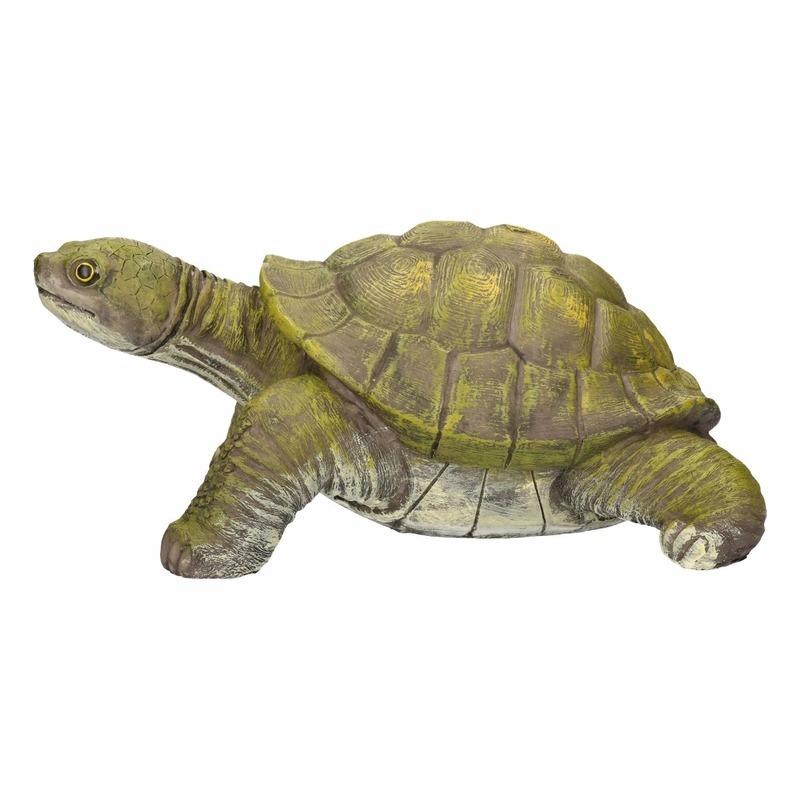 Schildpadden tuinbeeld 39 cm