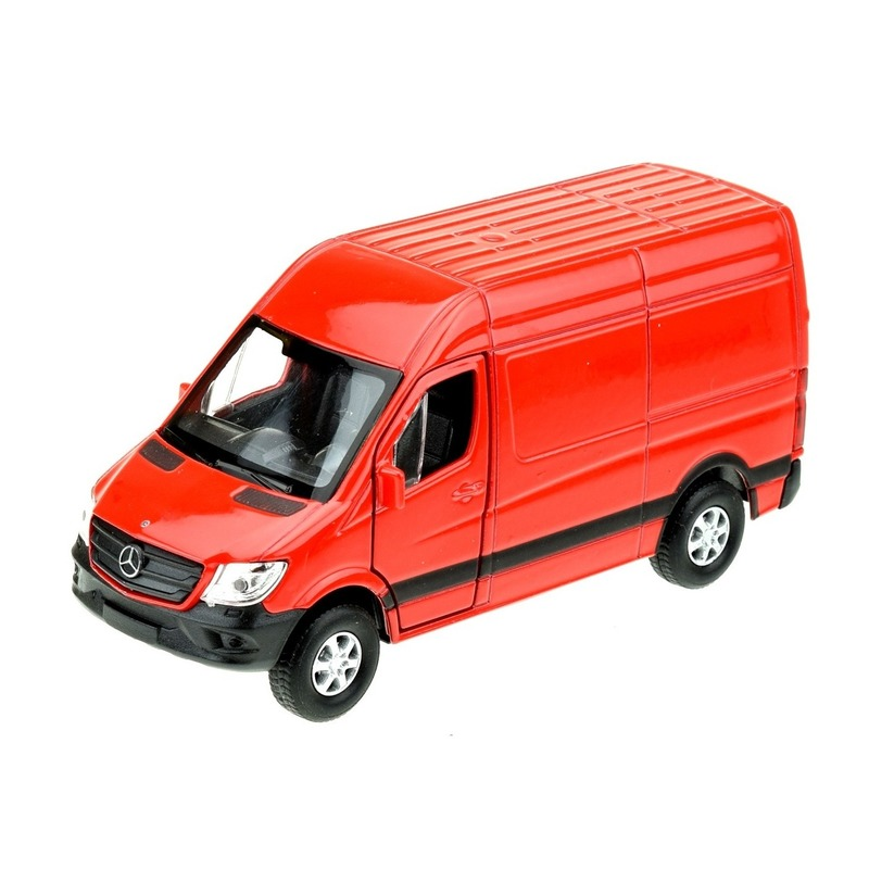Speelgoedauto Mercedes Benz Sprinter 1:36 rood