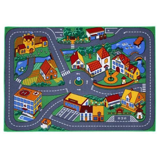 Speelkleden dorp met wegen 95 x 133 cm