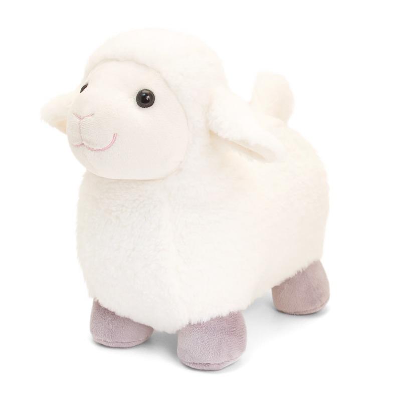 Staande pluche schapen knuffel 20 cm