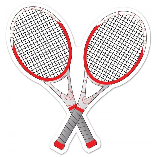 Tennis thema deco racket 25 cm  629240168feb1