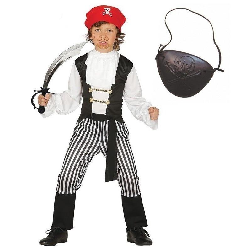 Verkleed piraten outfit voor kinderen maat 128-134