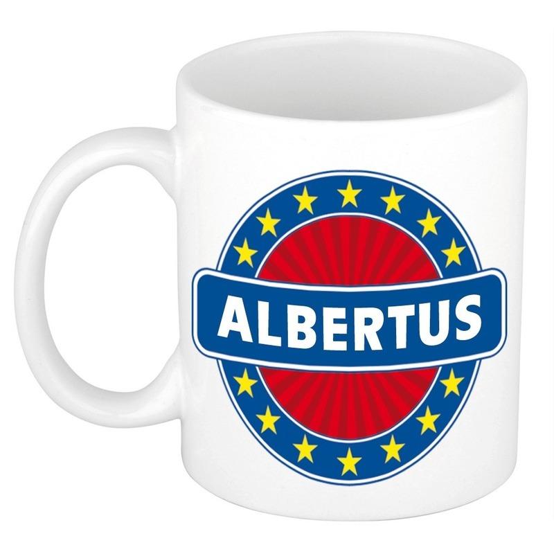 Voornaam Albertus koffie/thee mok of beker