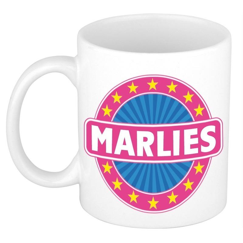 Voornaam Marlies koffie/thee mok of beker