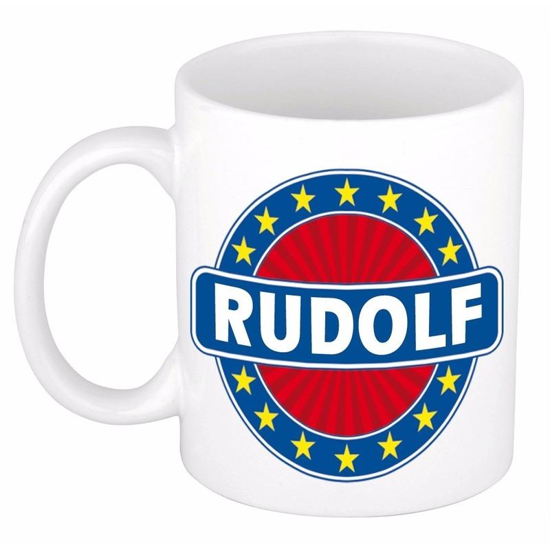 Voornaam Rudolf koffie/thee mok of beker