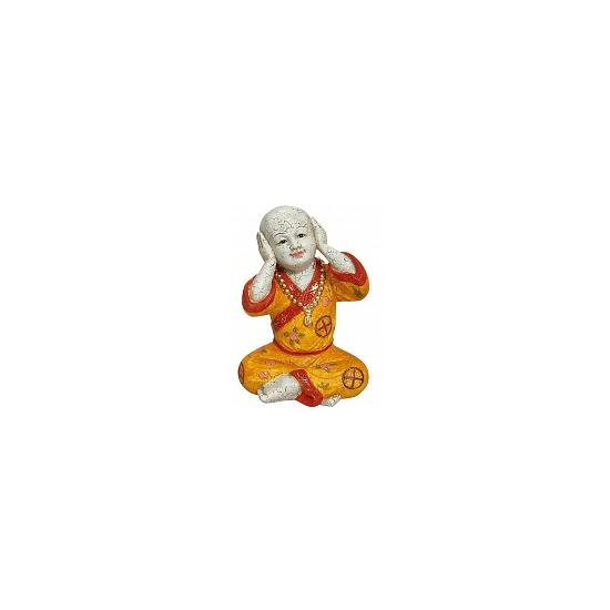 Woondecoratie Boeddha beeldje Horen 24 cm