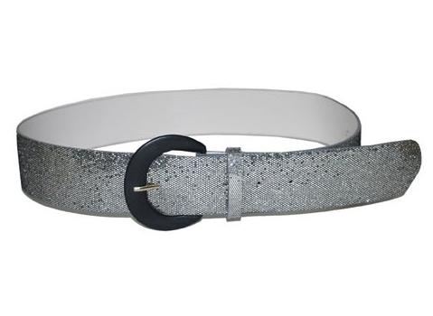 Zilveren glitter riem 110 cm