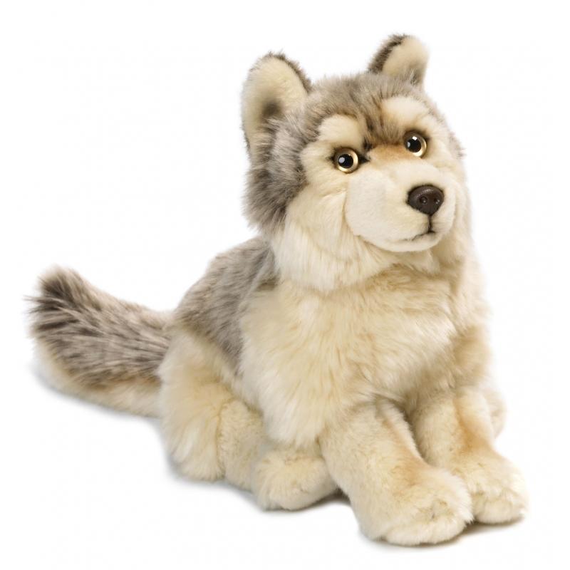 Zittende Knuffel Wolf 25 Cm